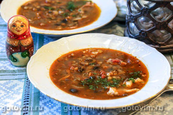 Photo of Суп с говядиной, чечевицей и маслинами.